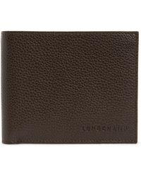 Longchamp Le Foulonné Leather Bifold Wallet - Brown