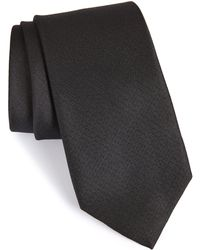 Calibrate Ballard Solid Silk Tie - Black