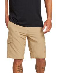 f605421851 Lyst - Volcom Surf 'n Turf Dry Cargo Hybrid Shorts in Natural for Men
