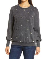 Wit & Wisdom Embellished Pullover - Black