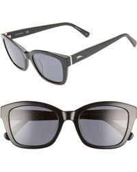 Longchamp Heritage 53mm Polarized Square Sunglasses - Black