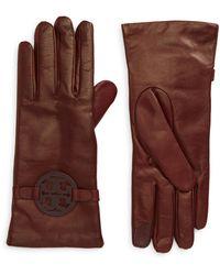 Tory Burch Miller Leather Glove - Multicolor
