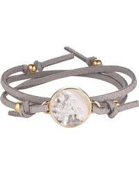 Asha - Initial Suede Wrap Bracelet - Lyst