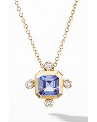 David Yurman - Novella Pendant Necklace In 18k Yellow Gold With Diamonds - Lyst