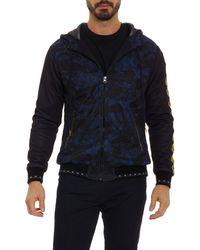 Robert Graham X Marvel Vibranium Zip Front Hoodie - Blue