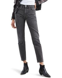 Levi's - Made & Crafted(tm) 501 Skinny Jeans (black Fog) - Lyst