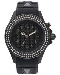 Kyboe - ! 'radiant' Crystal Bezel Silicone Strap Watch - Lyst