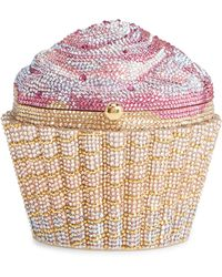 Judith Leiber Cupcake Crystal Embellished Clutch - Pink