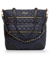 MZ Wallace | Crosby Quilted Oxford Nylon Tote | Lyst