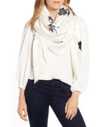 Tory Burch - Floral Logo Jacquard Traveler Scarf - Lyst