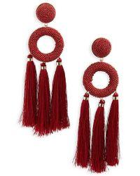 Natasha Couture - Seed Bead Tassel Earrings - Lyst