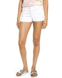 Tinsel Cuffed Shorts - White