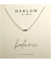 Nashelle Harlow By Balance Bead Boxed Necklace - Metallic