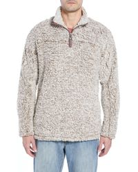 True Grit Frosty Tipped Quarter Zip Pullover - Brown