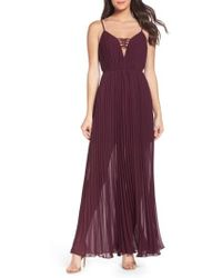 Ali & Jay - She Is A Regular Pleated Maxi Dress - Lyst