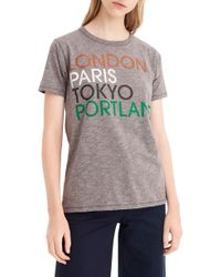 J.Crew - London, Paris, Tokyo, Portland Tee - Lyst