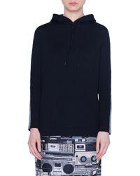 Akris Punto Metallic Tuxedo Stripe Wool Sweater - Black