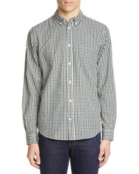 Norse Projects Osvald Gingham Button-down Shirt - Blue