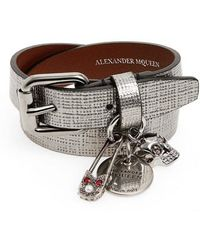 Alexander McQueen - Safety Pin Wrap Bracelet - Lyst