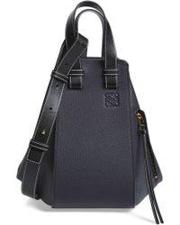 Loewe Hammock Small Pebbled Leather Hobo - Black