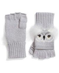 Kate Spade - Who Me Owl Merino Wool Pop-top Mittens - Lyst
