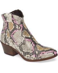 Cordani Prospera Snake Embossed Boot - Multicolor