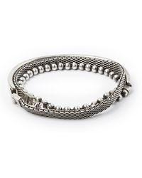 Title Of Work - Sterling Silver Wrap Bracelet - Lyst