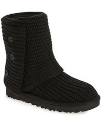 UGG - ® Classic Cardy Button Detailed Knit Boots - Lyst