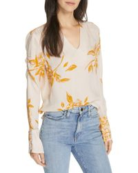 Joie - Galvin Floral Silk Top - Lyst