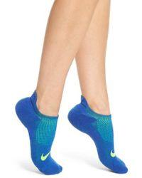 Nike - Elite Cushioned No-show Tab Running Socks - Lyst
