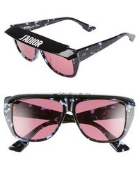 Dior - Club2s 56mm Square Sunglasses With Removable Visor - Lyst