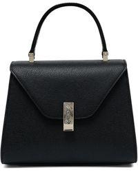 Valextra Mini Iside Top Handle Bag - Black