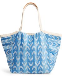 Mercado Global Rosa Woven Tote - Blue