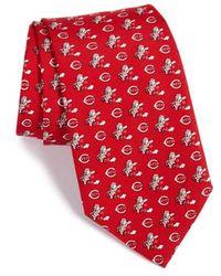 Vineyard Vines - 'cincinnati Reds - Mlb' Print Silk Tie - Lyst
