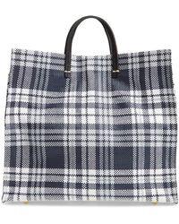 Clare V. - Simple Plaid Tote - - Lyst