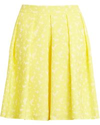 Halogen Halogen X Atlantic-pacific Jacquard Pleat Skirt - Yellow