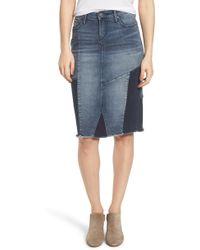 Slink Jeans - Patchwork Denim Skirt - Lyst