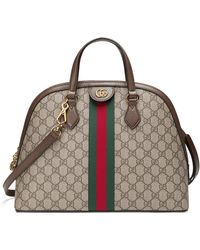Gucci - Ophidia Gg Supreme Dome Satchel - Lyst