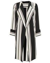 Wallis - Cut About Stella Stripe Duster Coat - Lyst