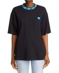 Acne Studios Eternal Face Crewneck T-shirt - Black