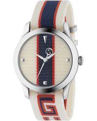 ba66ac8e874 G-timeless Nylon Strap Watch.  850. Nordstrom · Gucci - Stripe Textile-strap  Watch - Lyst