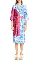 67ccce83 Dries Van Noten - Duval Floral Print Wrap Midi Dress - Lyst