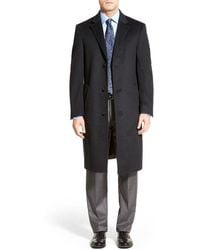 Hart Schaffner Marx Sheffield Classic Fit Wool & Cashmere Overcoat - Gray