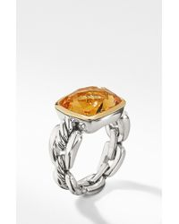 David Yurman - Wellesley Link Statement Ring With 18k Gold - Lyst