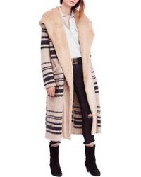 Free People - Sweetest Thing Faux Fur Hooded Sweater Coat - Lyst