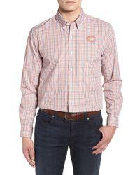 Cutter & Buck - Chicago Bears - Gilman Regular Fit Plaid Sport Shirt - Lyst