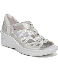 Bzees Fisherman Sasha Washable Wedge Sandals - Metallic