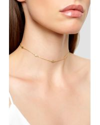 Argento Vivo Station Choker Necklace - Metallic