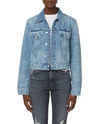 Hudson Jeans Crop Denim Trucker Jacket - Blue