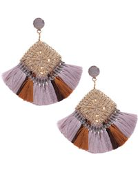 Nakamol - Drusy Woven Fringe Earrings - Lyst